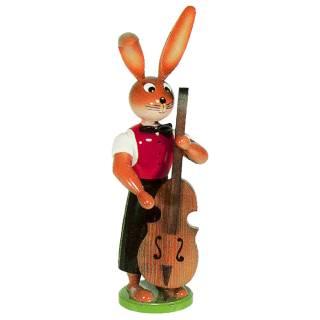 Hasenmusikant mit Bass