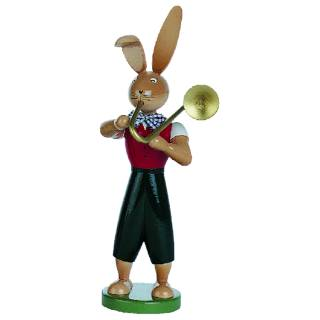 Hasenmusikant mit Posaune