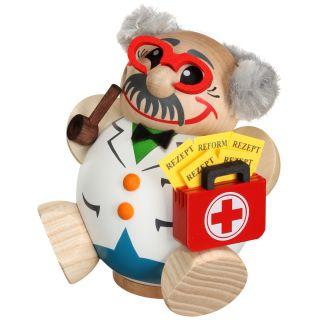 Kugelräucherfigur Doktor