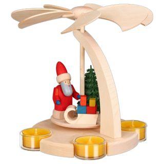 Bogenpyramide - Weihnachtsmann mit Schlitten