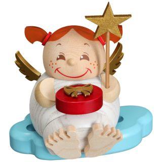 Kugelräuchermännchen Engel mit Weihnachtsgeschenk