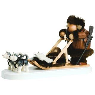Räuchermännchen Eskimo mit Hundeschlitten von KWO
