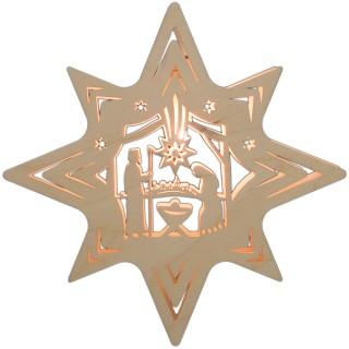 Fensterbild Stern Christi Geburt