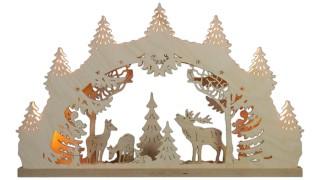 Schwibbogen Hirschfamilie