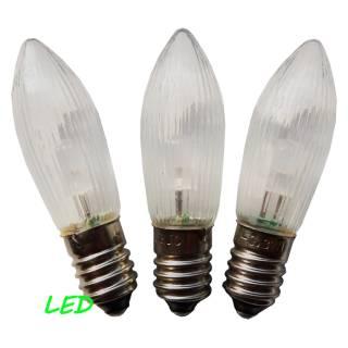 LED Spitzkerze für Schwibbogen, 3er Set