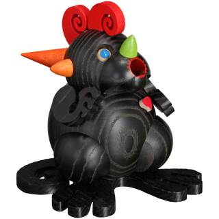 Kugel-Räucherdrache Schwarzes Drachenherz
