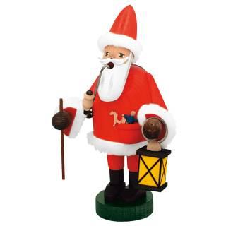 Räuchermann Weihnachtsmann mit Laterne
