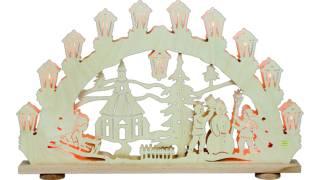 SAICO 3D Schwibbogen Kinder im Schnee - Erzgebirge