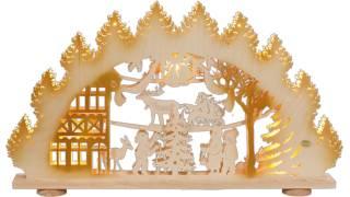 SAICO 3D Schwibbogen Weihnachtsabend