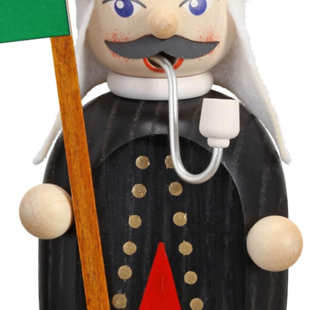 Räuchermännchen Bergmann mit Fahne, 16 cm