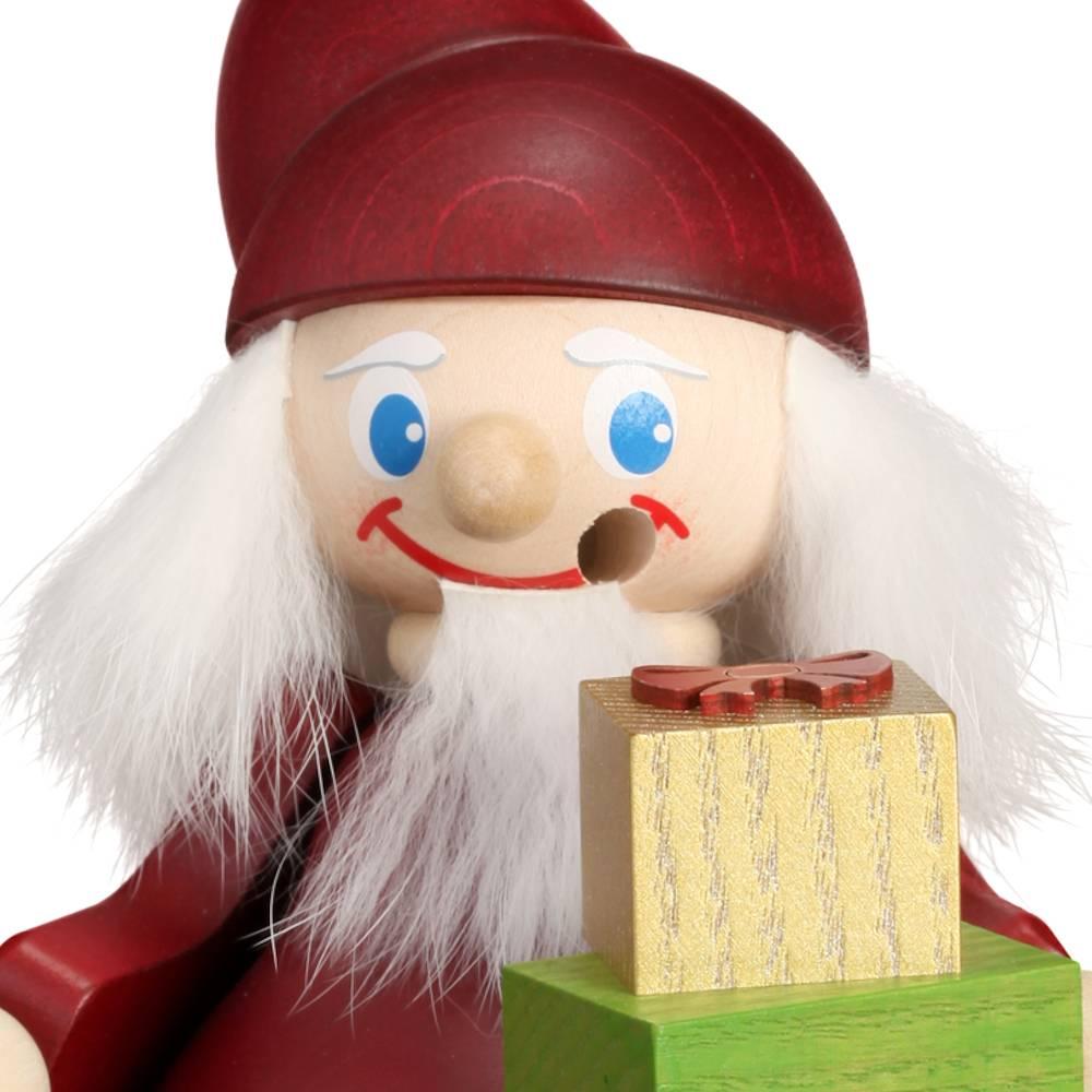 Räuchermännchen Weihnachtsheinzel mit Geschenk