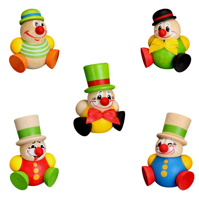 Clowny Baumbehang, 5er Set