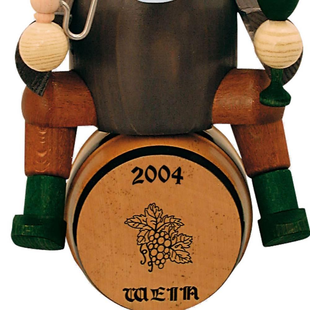 Räuchermann Weinhändler auf Fass