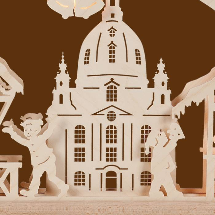 SAICO 3D Schwibbogen Dresdener Striezelmarkt - Erzgebirge