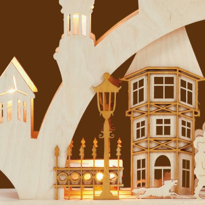 SAICO 3D Schwibbogen Altstadt klein