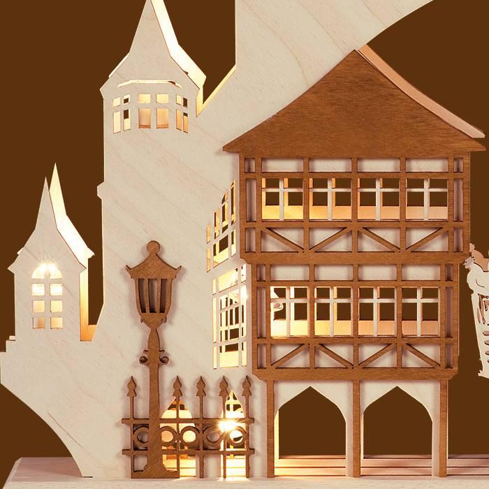 SAICO 3D Schwibbogen Altstadt groß