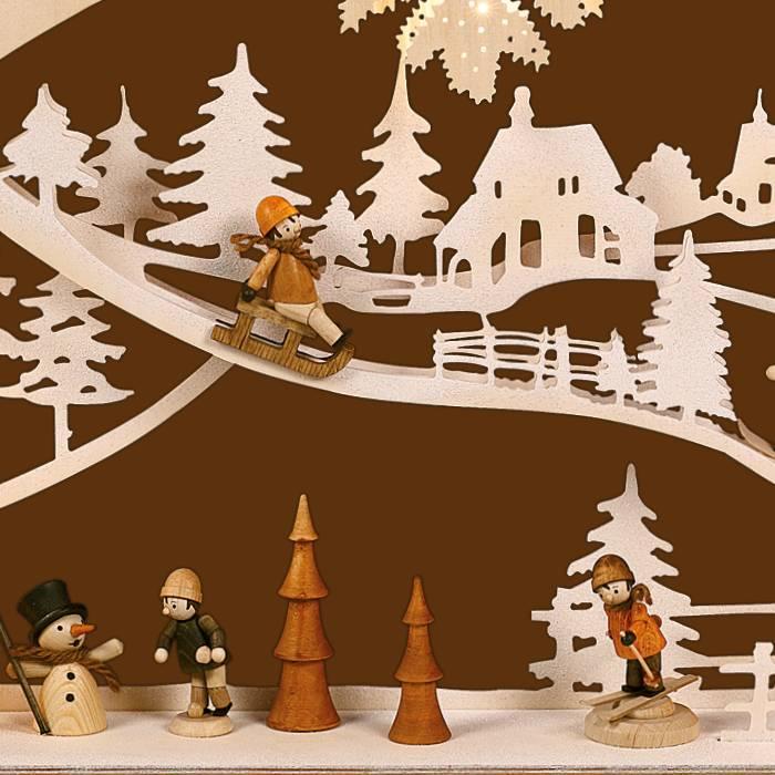 SAICO 3D Schwibbogen Kinder im Schnee
