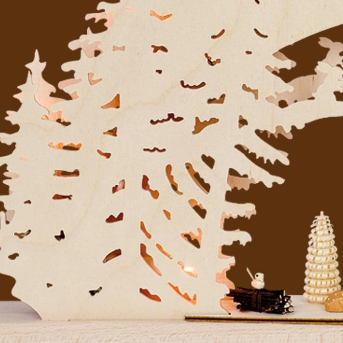 SAICO 3D Schwibbogen Wildfütterung mit Rehen - Erzgebirge