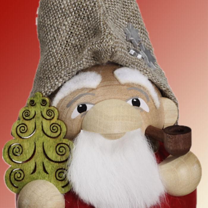 Kugelräuchermännchen Waldzwerg Weihnachtsmann