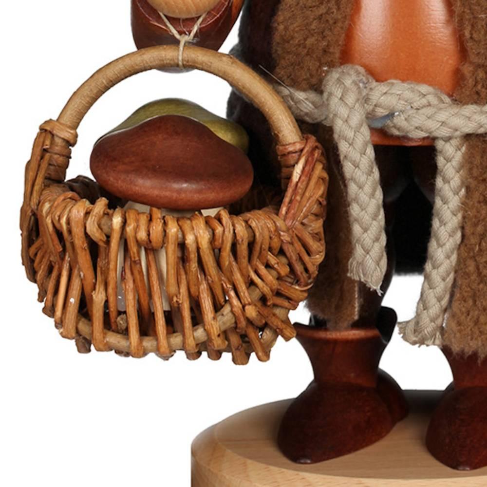 Räuchermännchen Wichtel Pilzsammler