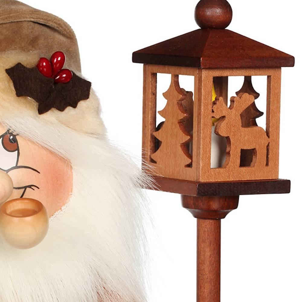 Räuchermännchen Wichtel Weihnachtsmann mit Bank