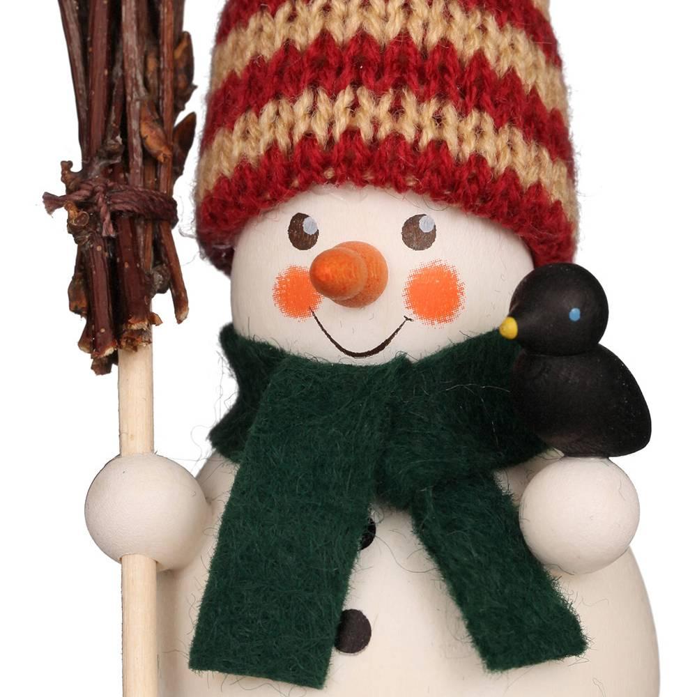 Wackelmännchen Schneemann mit Besen