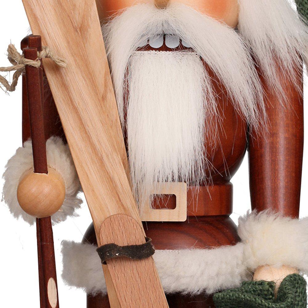 Ulbricht Nussknacker Weihnachtsmann mit Ski natur