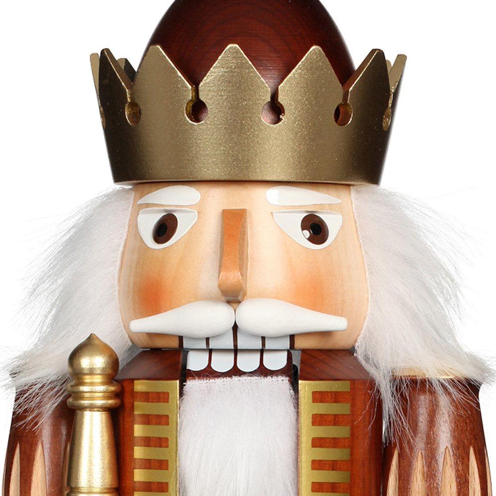Ulbricht Nussknacker König mit Krone natur