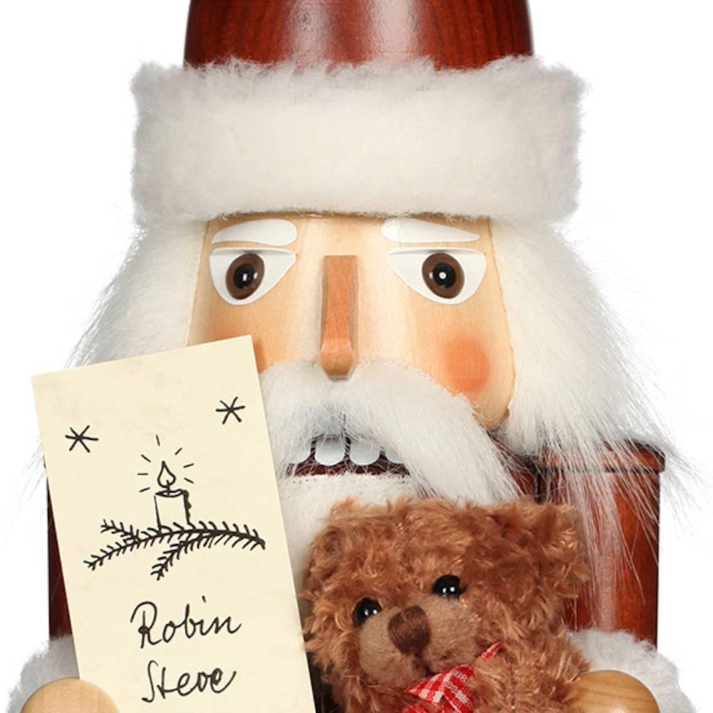 Ulbricht Nussknacker Weihnachtsmann mit Namensliste natur
