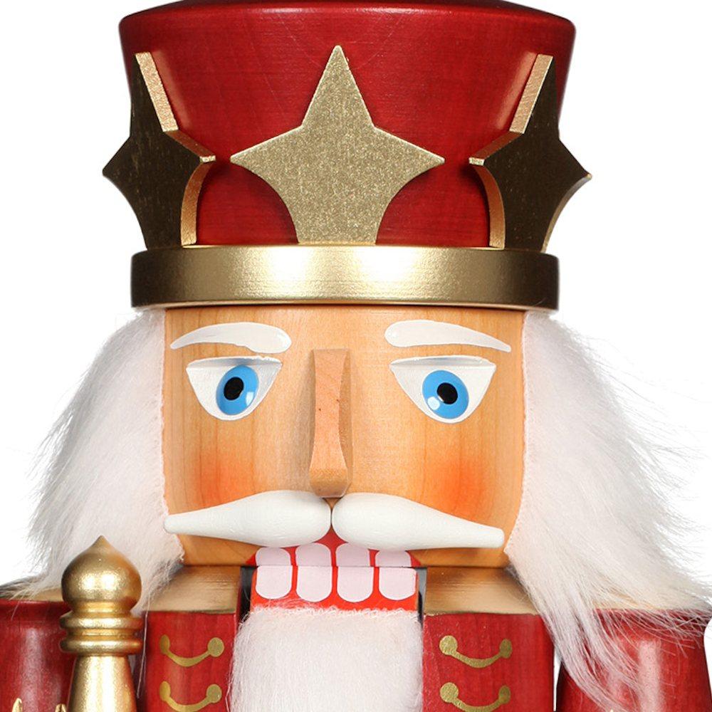 Ulbricht Nussknacker König rot lasiert