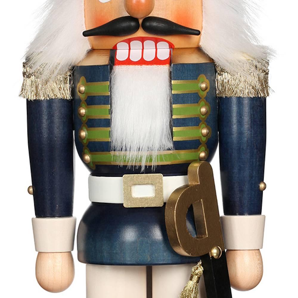 Ulbricht Nussknacker Gardesoldat blau lasiert