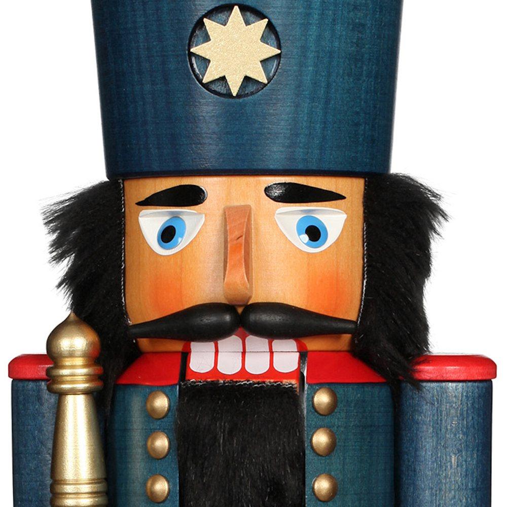 Ulbricht Nussknacker König blau lasiert