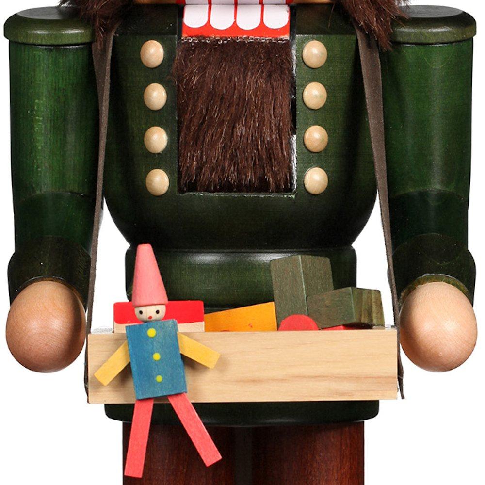Ulbricht Nussknacker Spielzeughändler lasiert