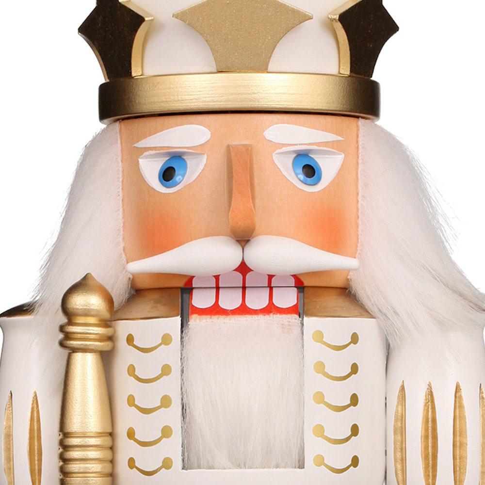 Ulbricht Nussknacker Prinz weiß gold lasiert
