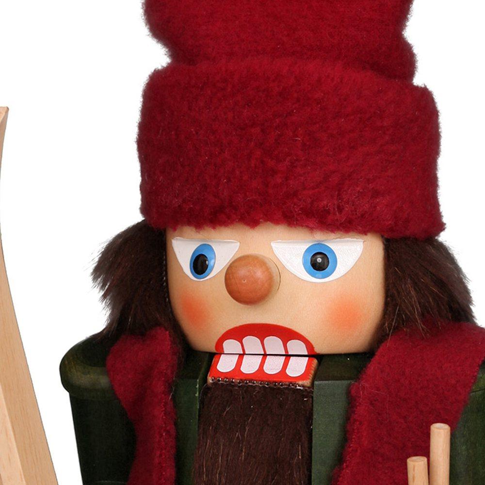 Ulbricht Nussknacker Skifahrer mit Mütze