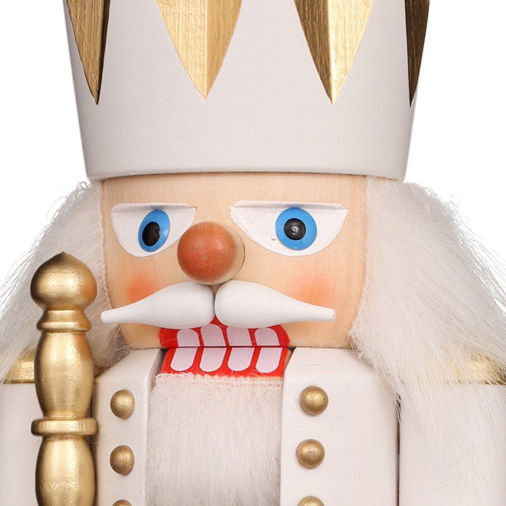Ulbricht Nussknacker König weiß gold