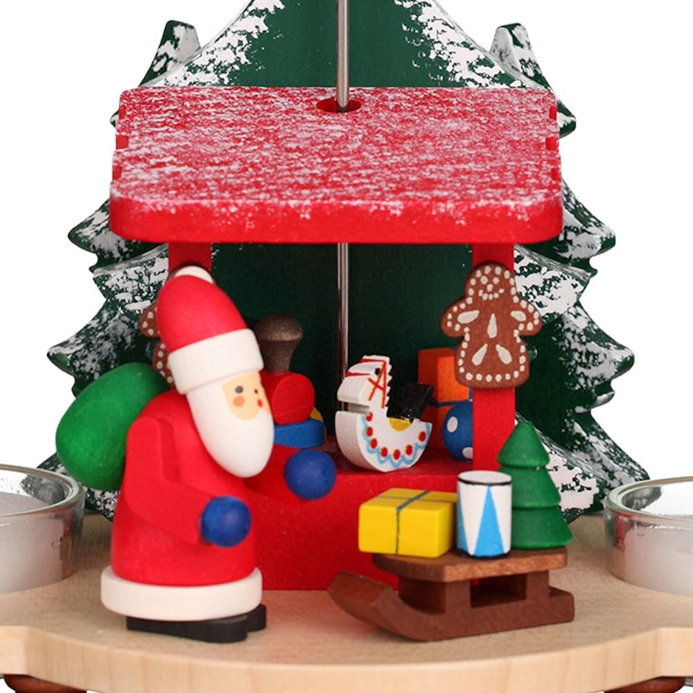 Pyramide Weihnachtsmann auf Striezelmarkt