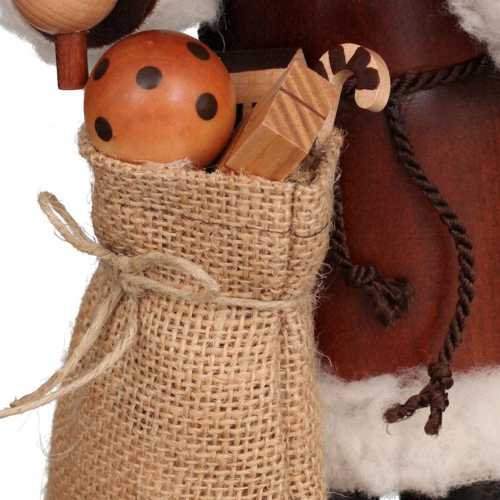 Räuchermännchen Weihnachtsmann natur 27 cm