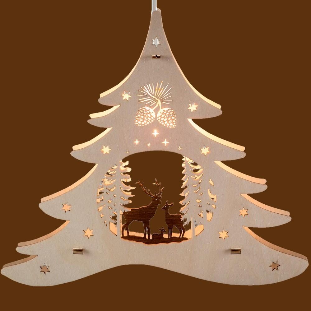 Fensterbild Tannenbaum Waldmotiv