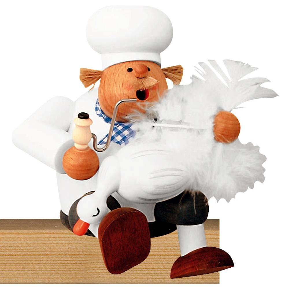 Kantenhocker Koch mit Gans