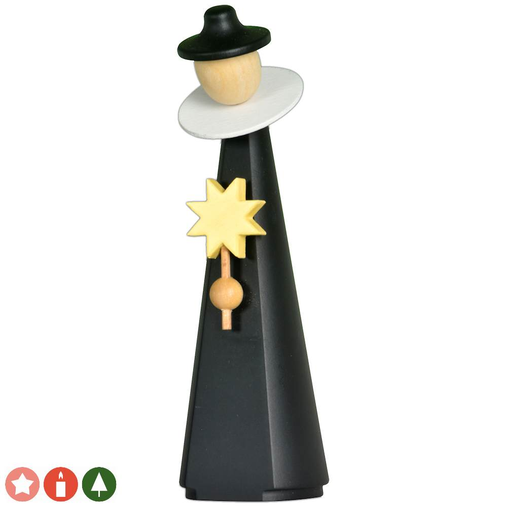 Kurrendefigur mit Stern (11 cm) von KWO