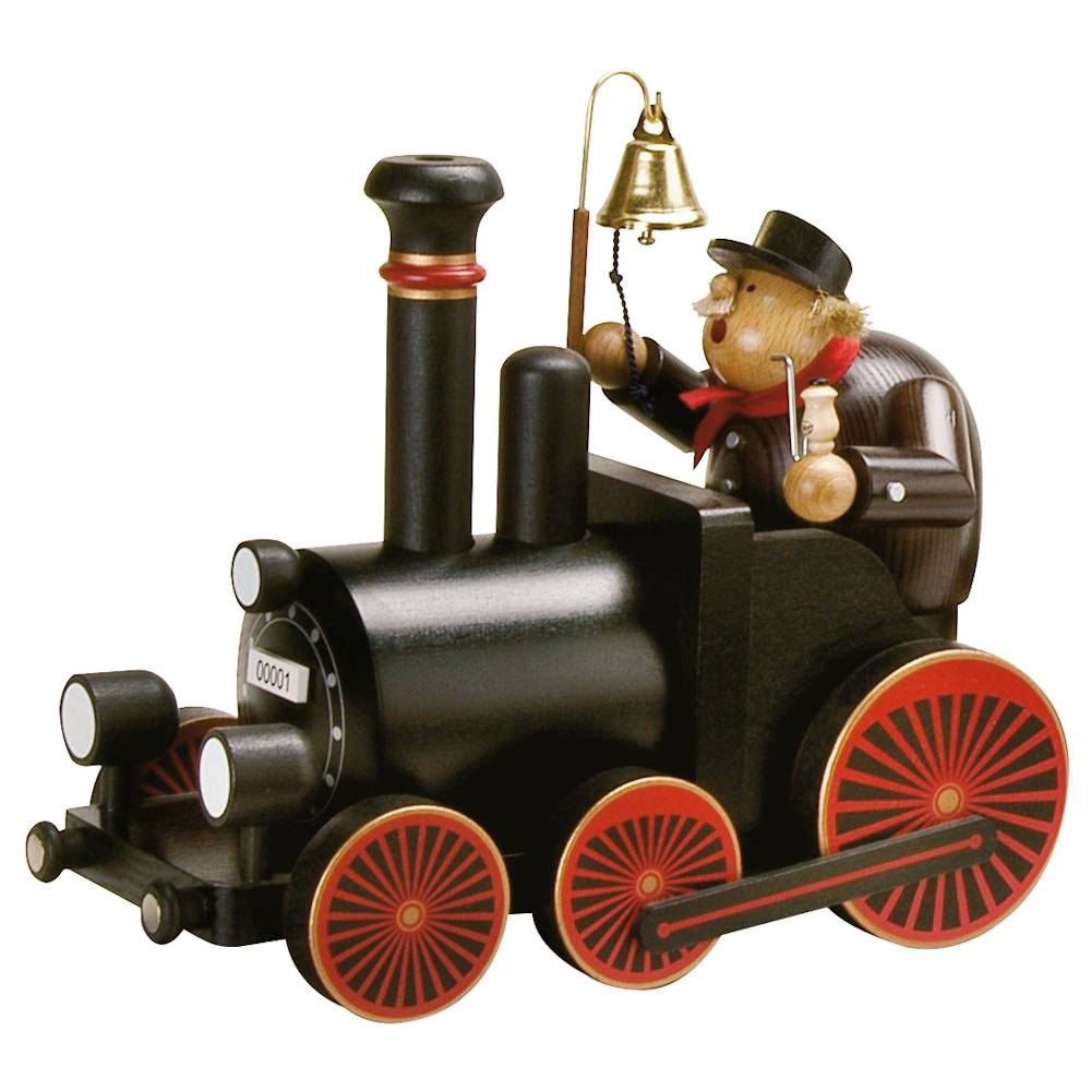 KWO Lokführer mit Lokomotive