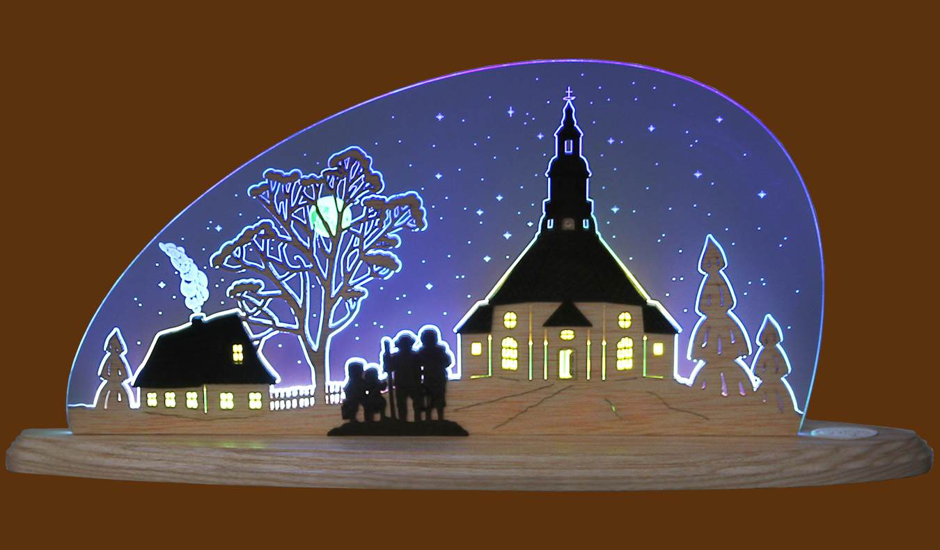 LED Motivleuchte Seiffner Kirche
