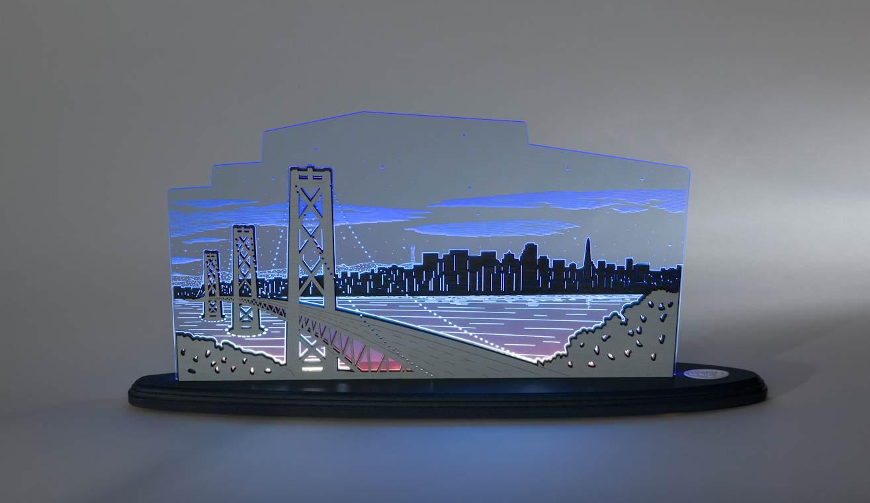 LED Motivleuchte Blick über San Francisco
