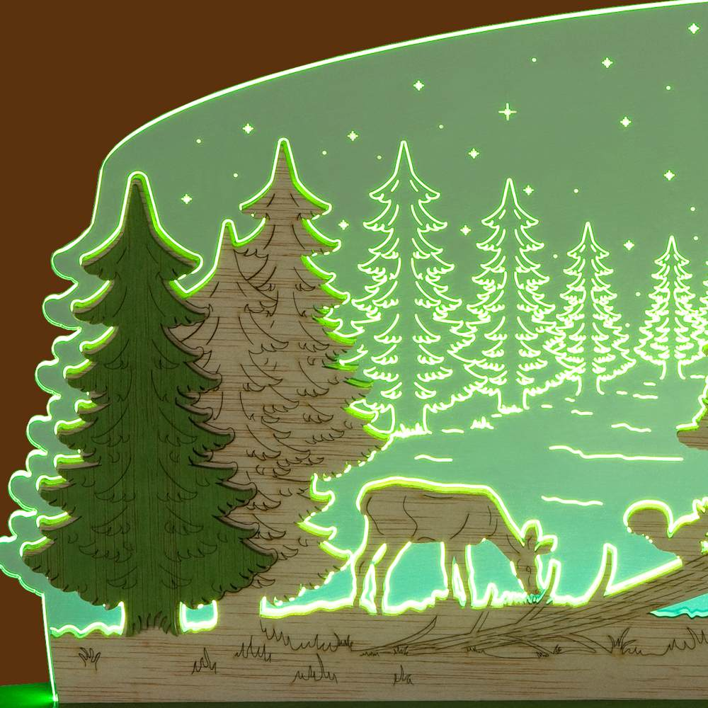 LED Motivleuchte Waldidylle