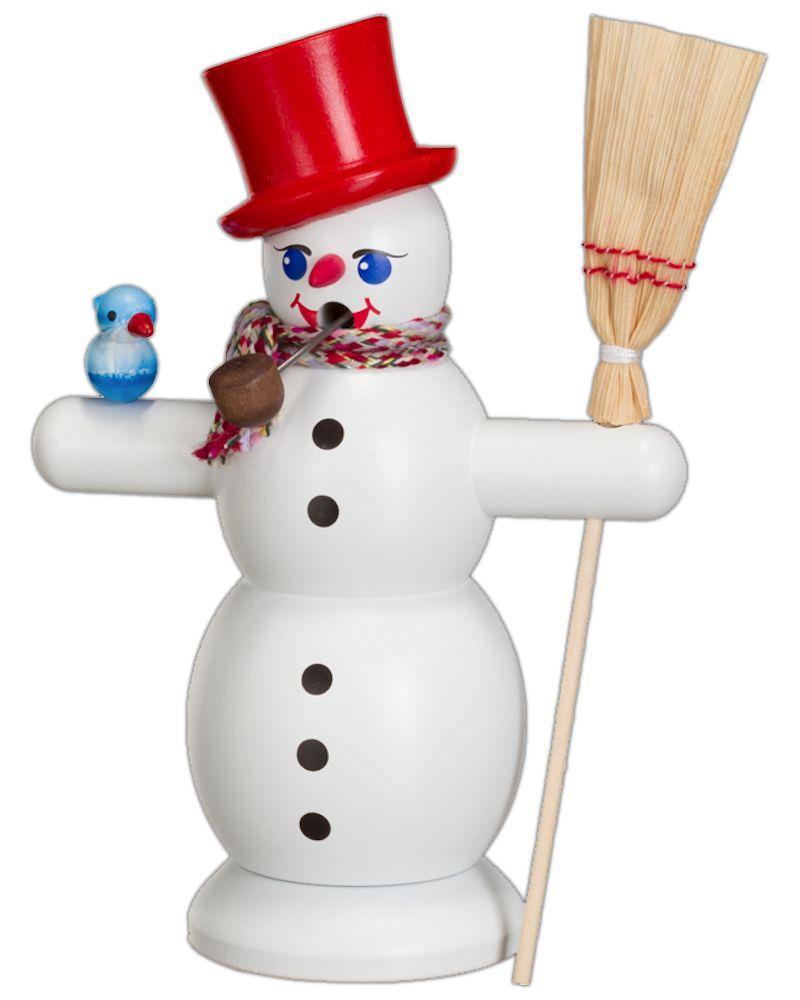 Räuchermännchen Schneemann mit rotem Hut