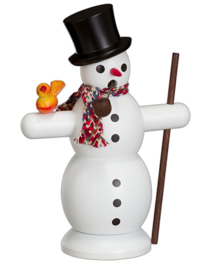 Räuchermännchen Schneemann mit Schal