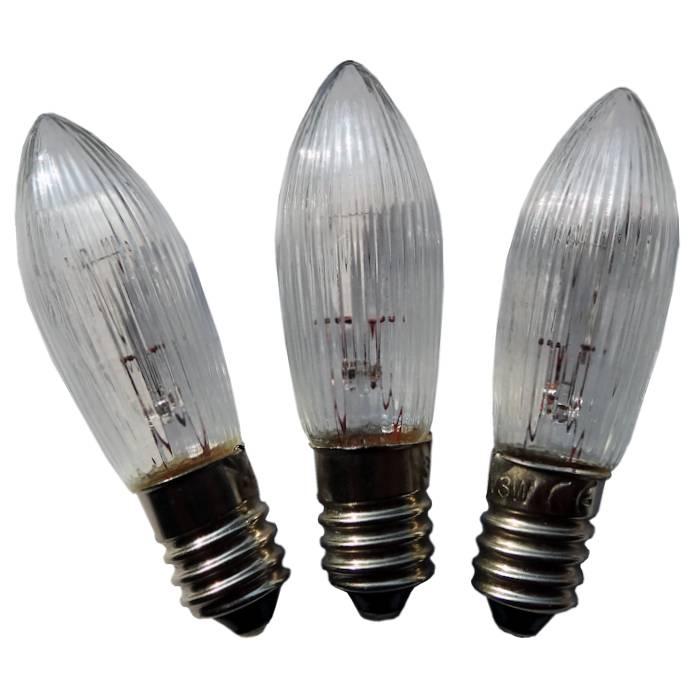 Ersatzlampe für Schwibbogen, 16V / 3W, 3er Set