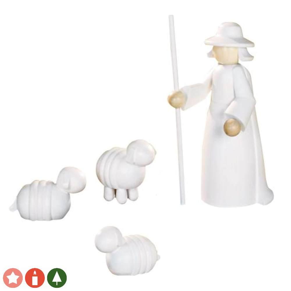 Dekofiguren Schäfer mit Schafen (11 cm) von KWO