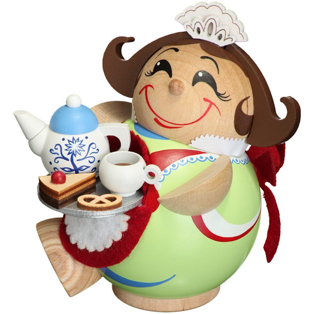 Kugelräucherfigur Schokoladenmädchen